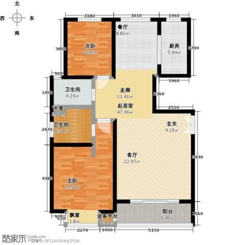 世纪飞凡锦城(世纪长江苑)2室0厅2卫1厨144.00㎡户型图