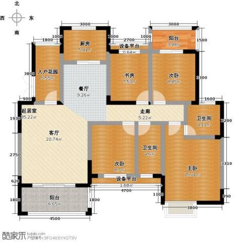 丰源国际御�台4室0厅2卫1厨142.00㎡户型图