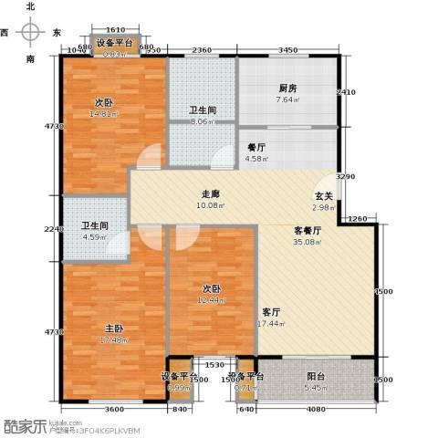 金羚嘉和馨园二期3室1厅2卫1厨131.00㎡户型图