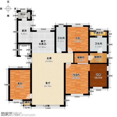 水韵豪庭2室1厅2卫1厨199.00㎡户型图