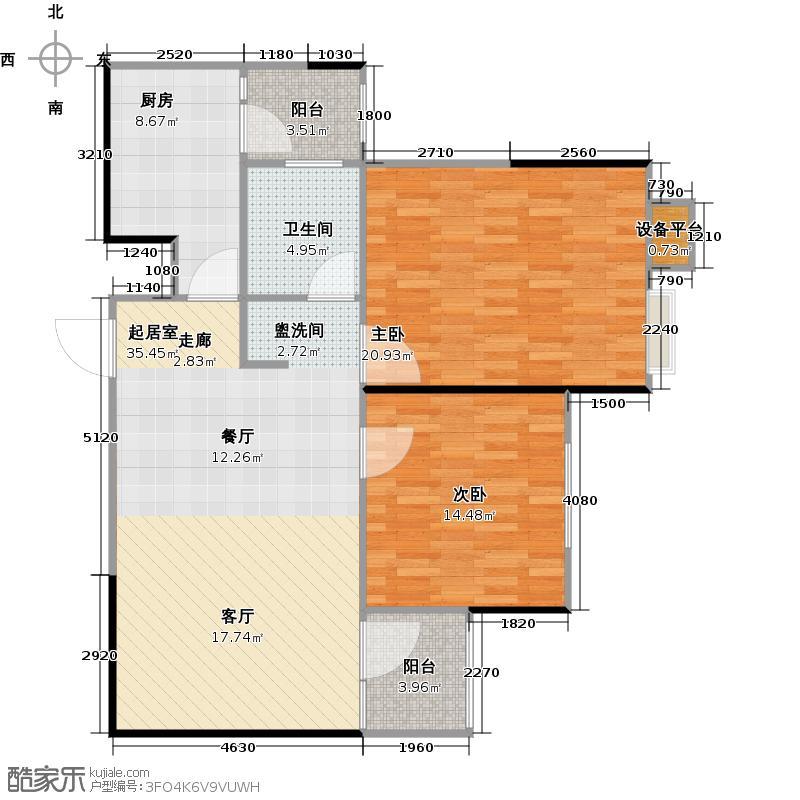 巴楚文化广场户型2室1卫1厨