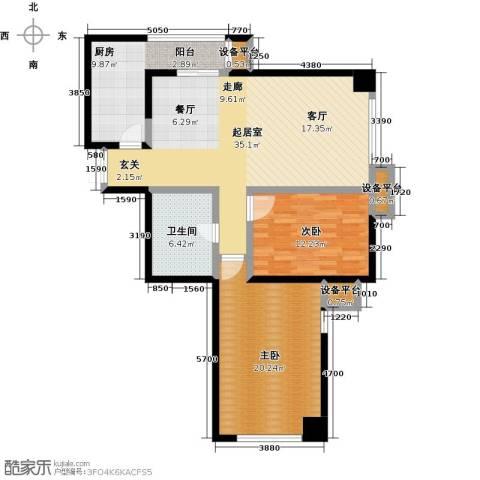 剑桥春雨2室0厅1卫1厨124.00㎡户型图