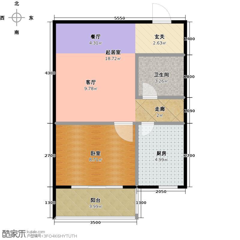 南阳南都秋实苑一室一厅一卫户型1室1厅1卫