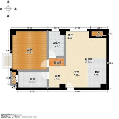尚城河滨1室0厅1卫1厨84.00㎡户型图