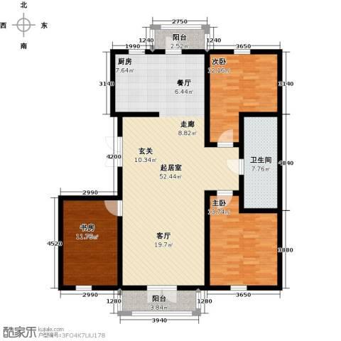 未来城三期3室0厅1卫0厨148.00㎡户型图