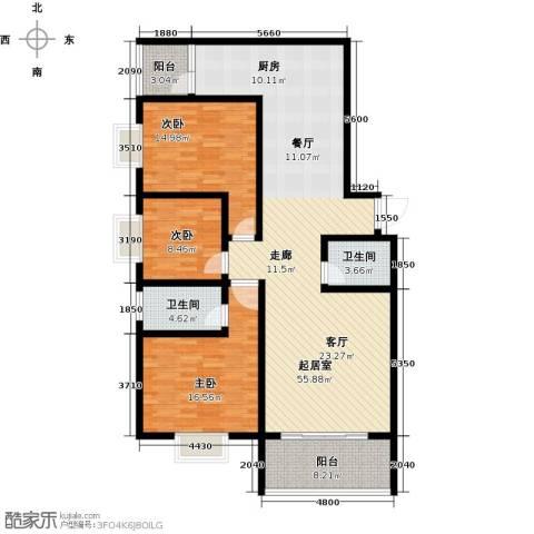 佳馨花园二期3室0厅2卫0厨134.00㎡户型图