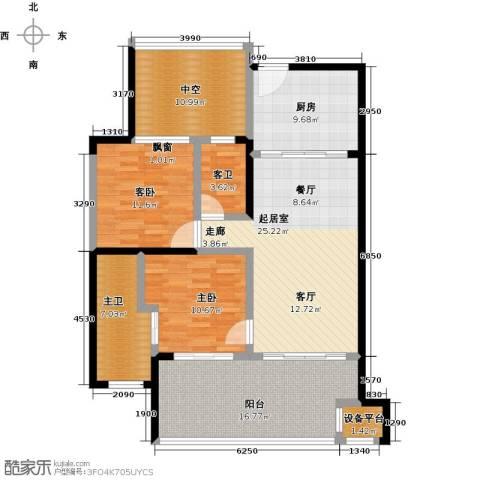 华润・石梅湾九里2室0厅0卫1厨97.00㎡户型图