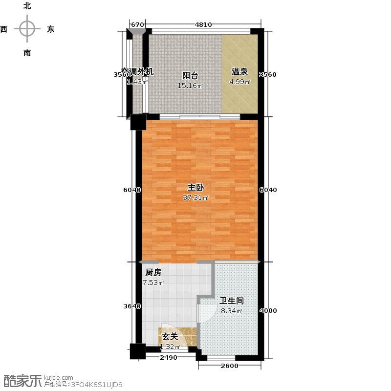 大华西海岸温泉丽舍54.00㎡54--87平米户型1室1厅1卫