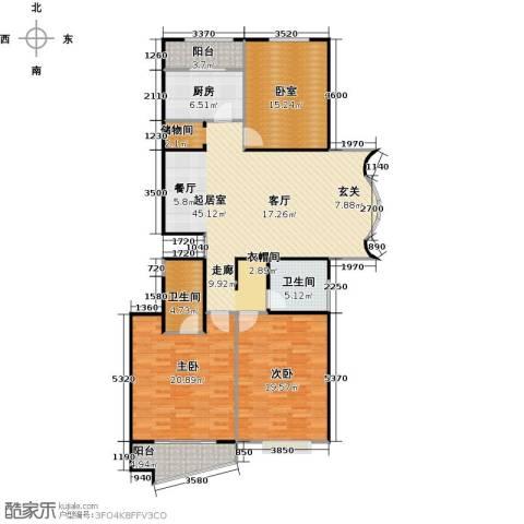 万润家园2室0厅2卫1厨137.00㎡户型图