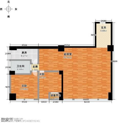 嘉业大厦二期2室0厅1卫1厨175.00㎡户型图