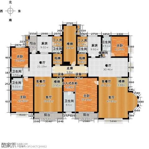 亚太国际公馆4室2厅6卫2厨468.00㎡户型图