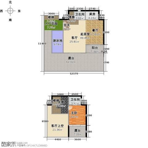 东能银滩1室0厅2卫1厨257.00㎡户型图