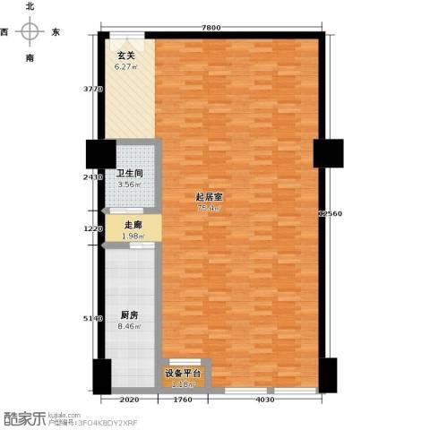 嘉业大厦二期1卫1厨113.00㎡户型图