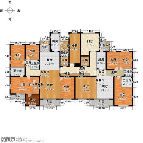 亚太国际公馆8室2厅5卫2厨548.00㎡户型图