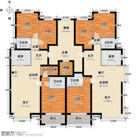 丽景华苑6室0厅4卫2厨333.00㎡户型图