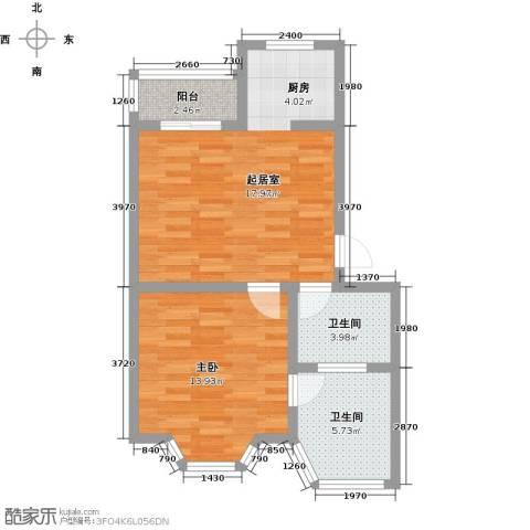 西柏坡国御温泉度假小镇1室0厅2卫0厨55.00㎡户型图