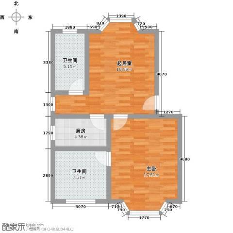 西柏坡国御温泉度假小镇1室0厅2卫1厨61.00㎡户型图