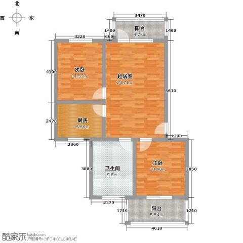 西柏坡国御温泉度假小镇2室0厅1卫1厨85.00㎡户型图