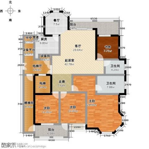 翡翠湾花园4室0厅2卫1厨225.00㎡户型图