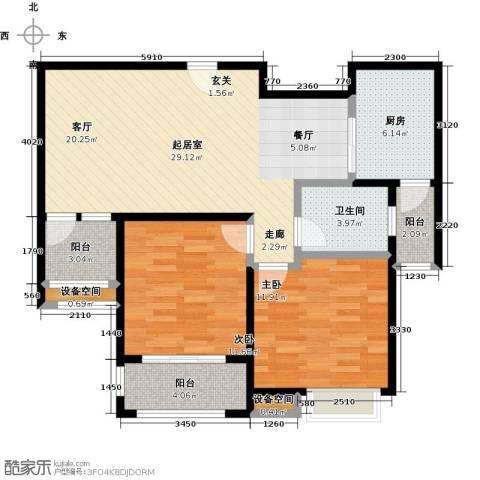 御景湾2室0厅1卫1厨105.00㎡户型图