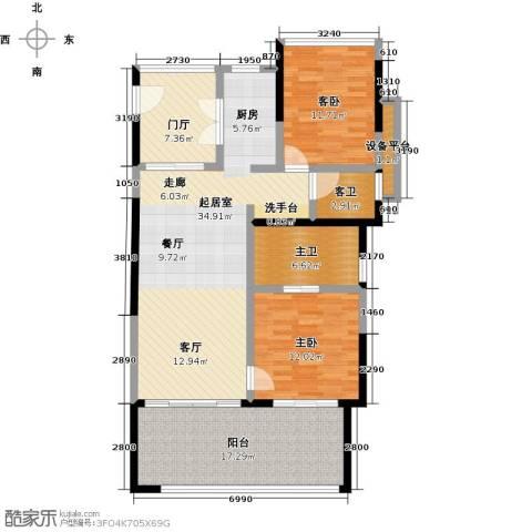 华润・石梅湾九里2室0厅0卫0厨107.00㎡户型图