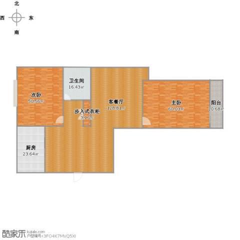 金色港湾2室1厅1卫1厨381.00㎡户型图