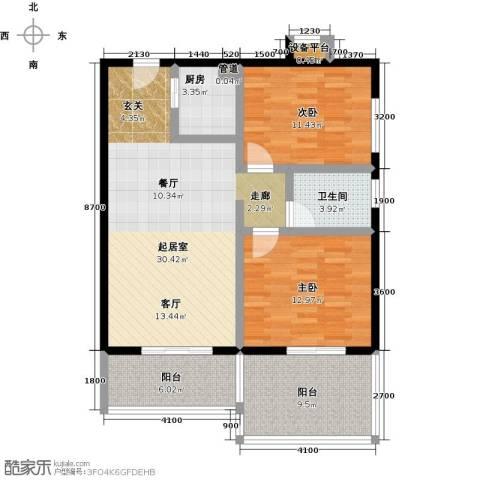 书香园2室0厅1卫1厨103.00㎡户型图
