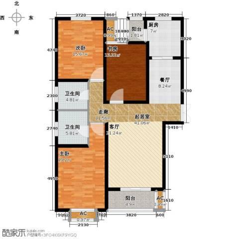 石家庄观天下3室0厅2卫1厨133.00㎡户型图
