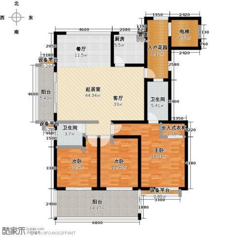 书香园3室0厅2卫1厨152.00㎡户型图