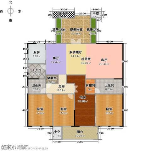银都花园8号1室0厅2卫1厨228.00㎡户型图