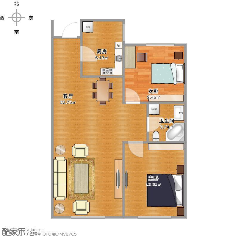 60米两室