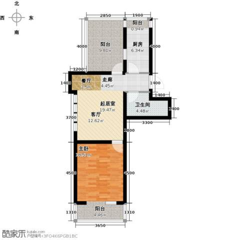 第6城二期1室0厅1卫1厨110.00㎡户型图