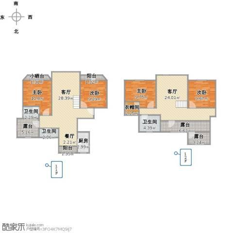 上海梦想4室2厅3卫1厨171.00㎡户型图