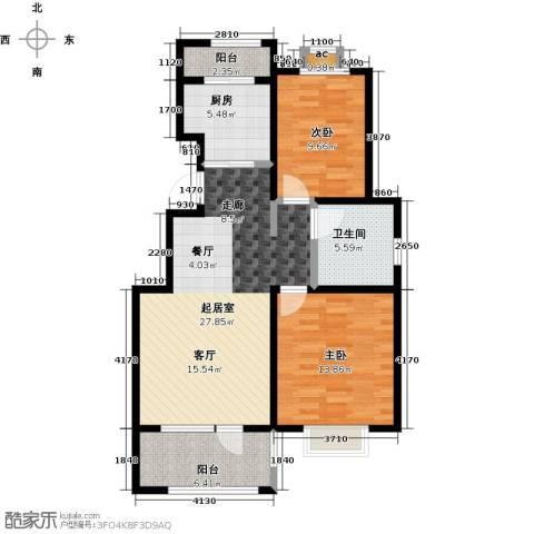 公园世家・观山樾2室0厅1卫1厨93.00㎡户型图