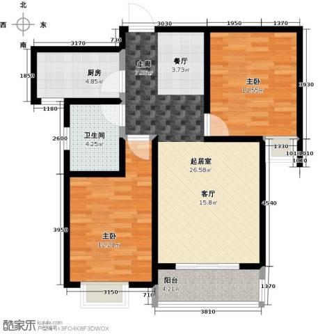 公园世家・观山樾2室0厅1卫1厨81.00㎡户型图