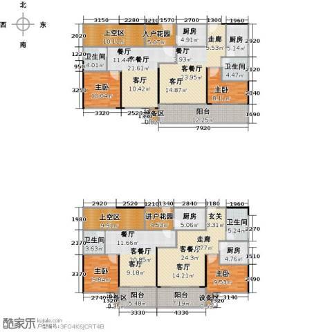 领峰4室4厅4卫4厨221.75㎡户型图