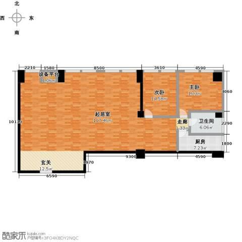 嘉业大厦二期2室0厅1卫1厨208.00㎡户型图