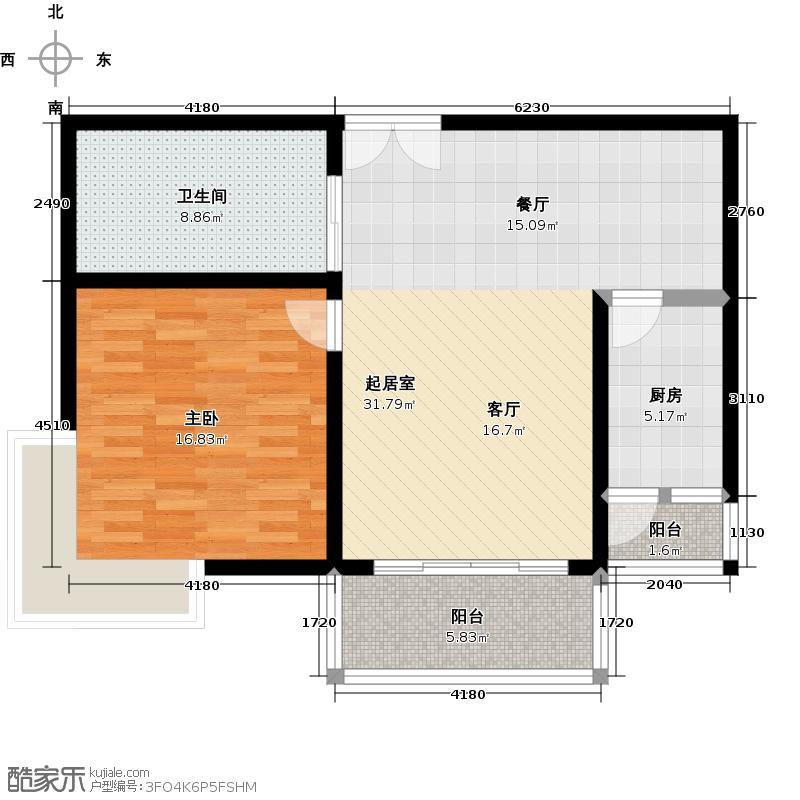 玫瑰购物广场70.00㎡房型: 一房; 面积段: 70 -80 平方米;户型