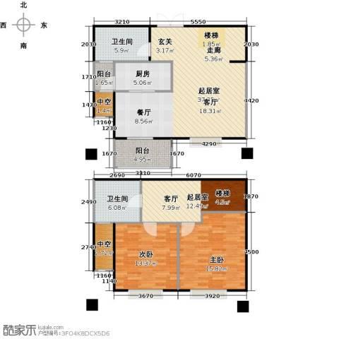世嘉国际华城二期2室0厅2卫1厨144.00㎡户型图