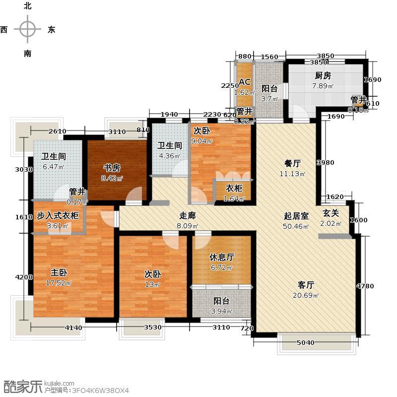 中海瀛台一期160.00㎡五房二厅二卫-168平米-34套户型