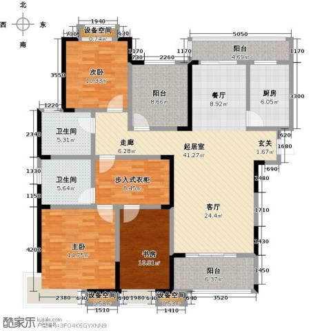 益阳国色天香3室0厅2卫1厨176.00㎡户型图