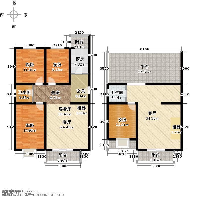 星河苑跃层四室三厅二卫户型
