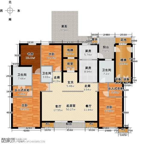 华润置地橡树湾4室0厅3卫2厨210.00㎡户型图
