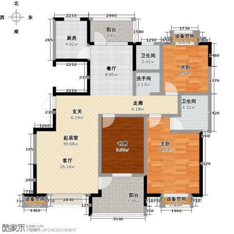 益阳国色天香3室0厅2卫1厨141.00㎡户型图