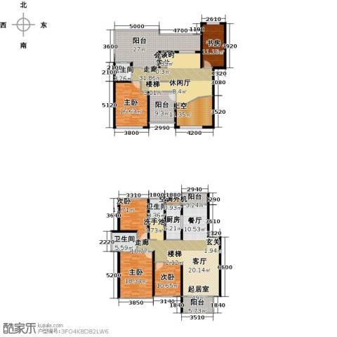 丽景华庭5室0厅3卫1厨313.00㎡户型图
