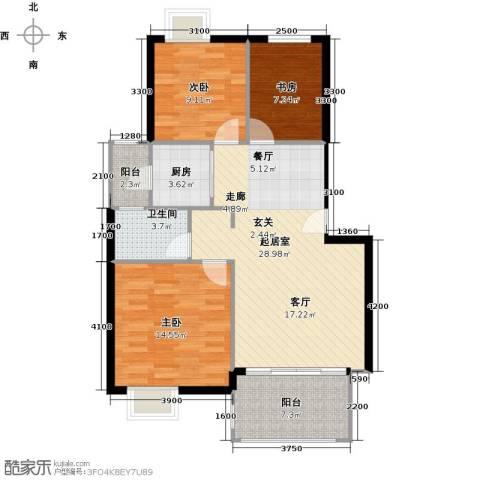 融汇半岛(二期)3室0厅1卫1厨106.00㎡户型图