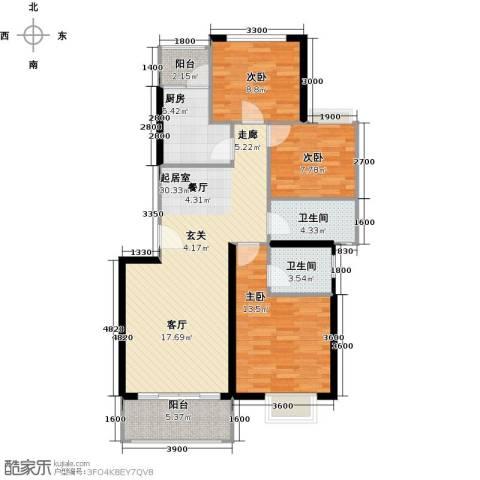 融汇半岛(二期)3室0厅2卫1厨114.00㎡户型图