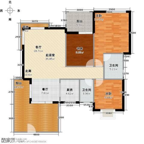 融汇半岛(二期)3室0厅2卫1厨154.00㎡户型图