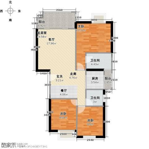 融汇半岛(二期)3室0厅2卫1厨110.00㎡户型图