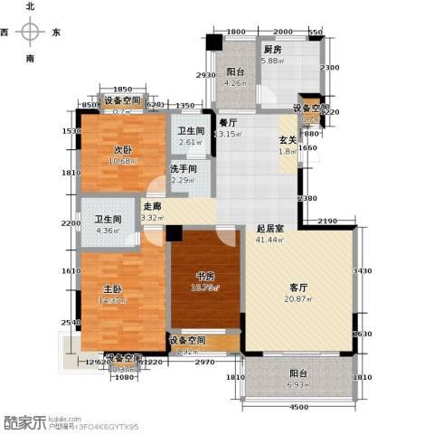 益阳国色天香3室0厅2卫1厨150.00㎡户型图